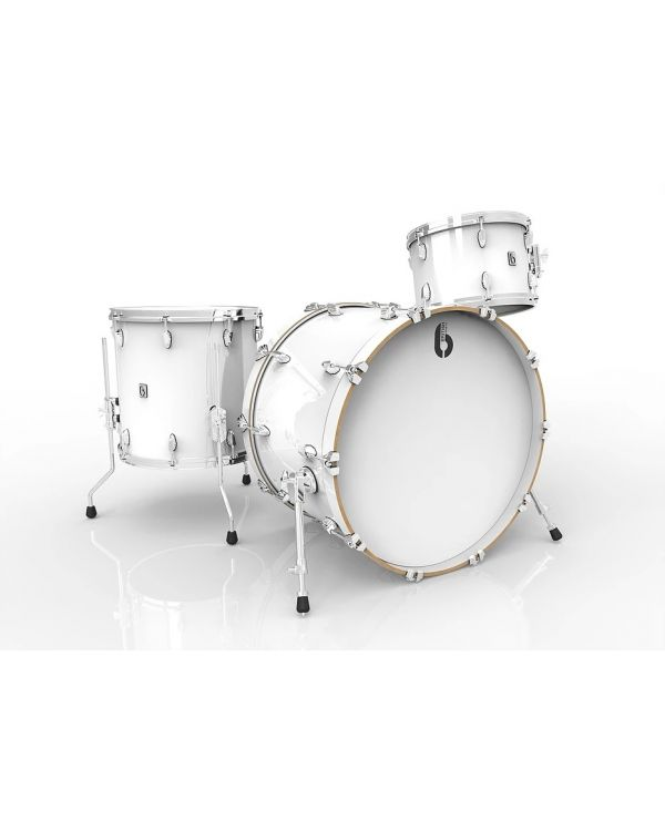 "British Drum Co. Legend Series 22"" 3-Piece Shell Pack in Piccadilly White"