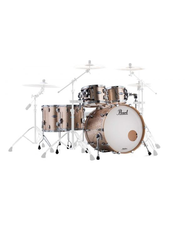 """Pearl Masters Maple Complete 22"""" 5-Piece Shell Pack in Champagne Sparkle"""