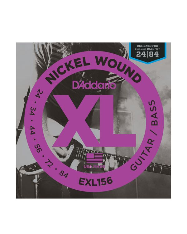 DAddario EXL156 Nickel Wound Bass VI 24-84 String Set