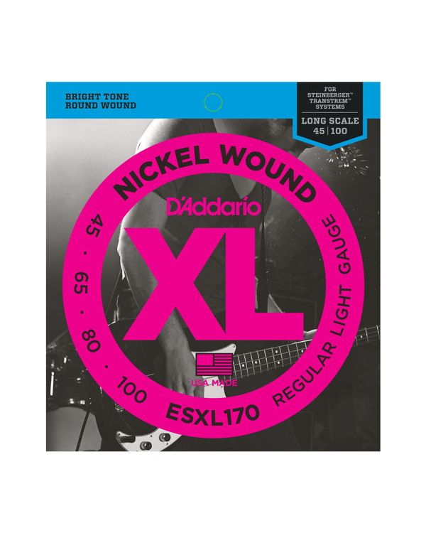 Daddario ESXL170 Nickel Wound Bass Guitar Strings Light 45-100