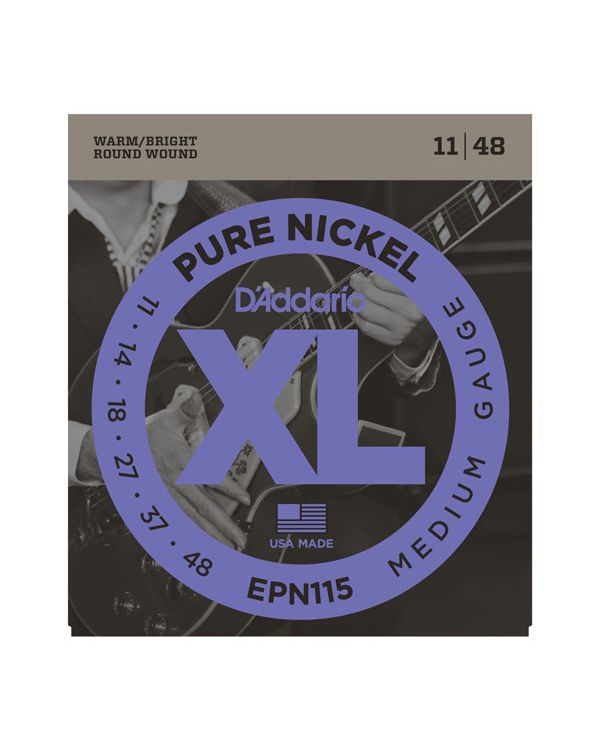 DAddario EPN115 Pure Nickel Electric Guitar Strings 11-48
