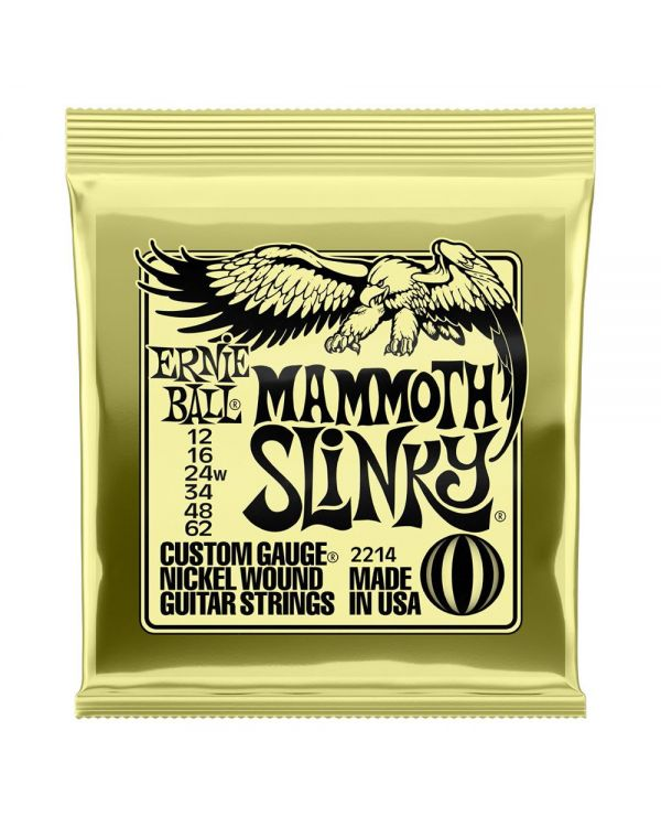 Ernie Ball Mammoth Slinky Electric Guitar Strings 12 - 62