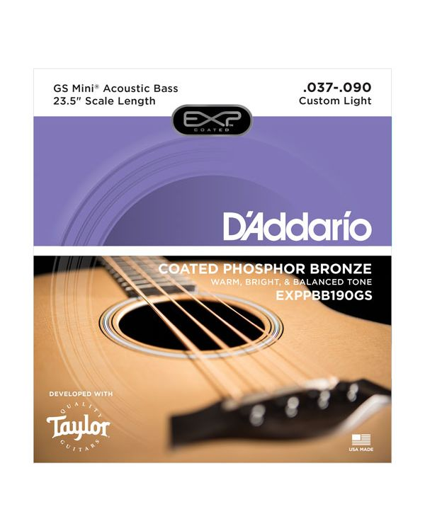 DAddario EXP Coated Taylor GS Mini Bass String Set