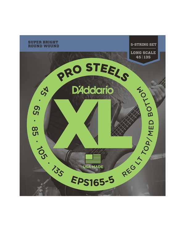 Daddario EPS165-5 5-String Prosteels Bass Strings Custom Light Long Scale