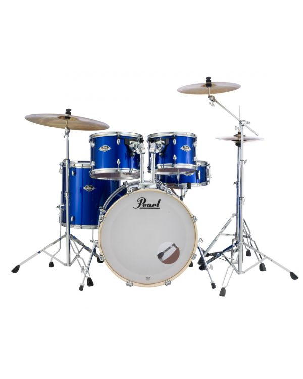 Pearl Export EXX 5-Piece Drum Kit in High Voltage Blue with Hardware and Cymbals