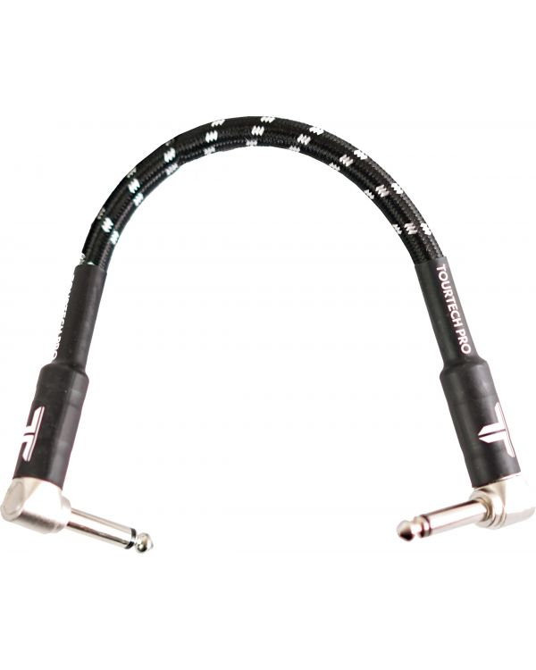 TOURTECH Pro Patch Cable, 15cm, Black & Grey
