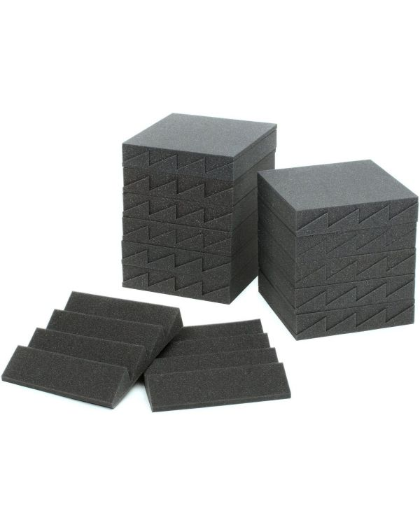 Auralex Studiofoam DST-114 Acoustic Panel 24 Pack Charcoal