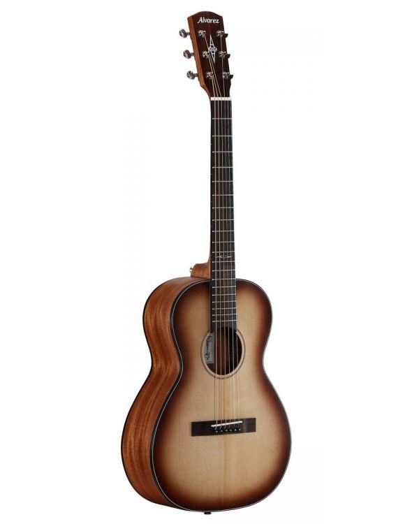 Alvarez DeltaDeLiteE Mini Blues Electro Acoustic Guitar Shadowburst