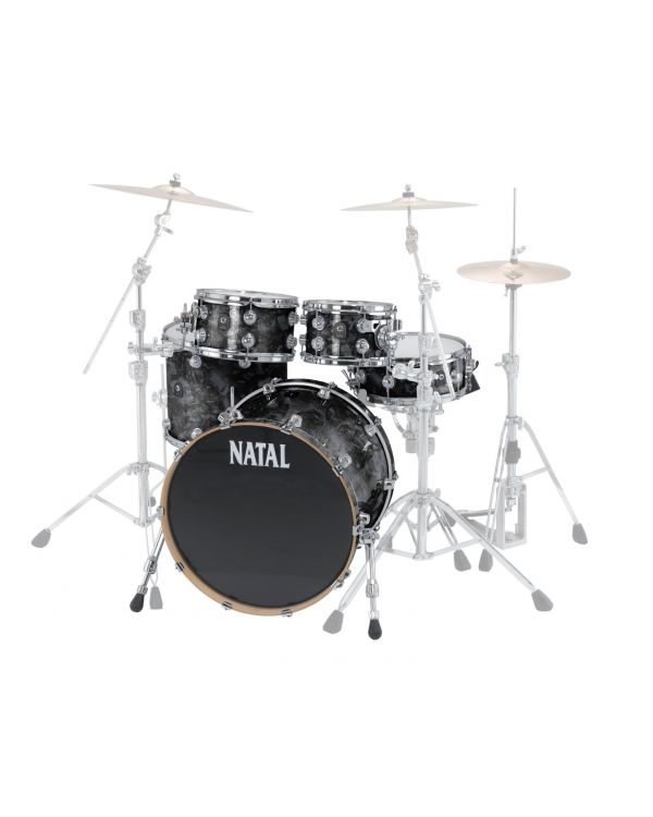 Natal Cafe Racer 22in 4-Piece Shell Pack Black Swirl