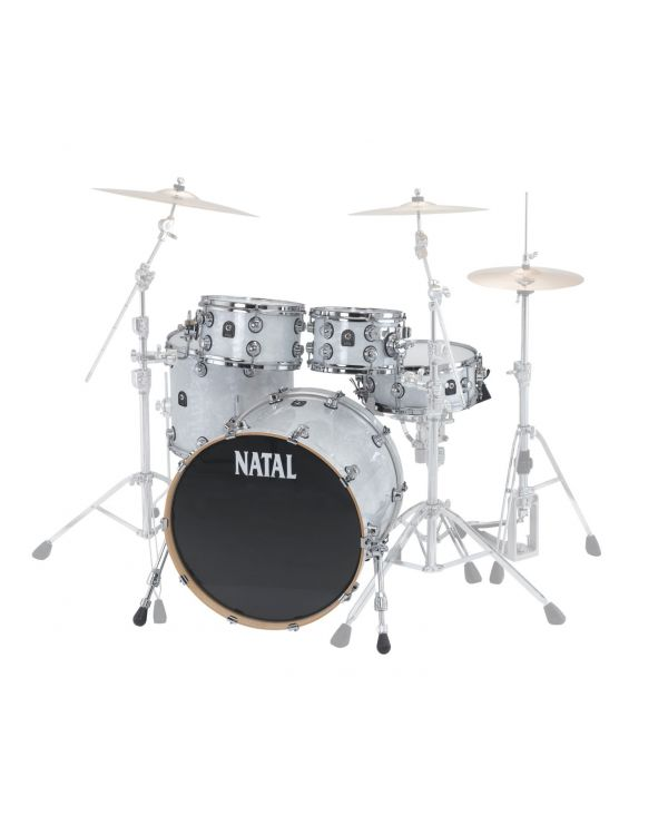 Natal Cafe Racer 22in 4-Piece Shell Pack White Swirl