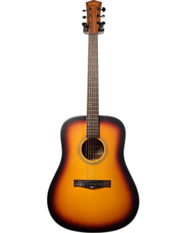 Eastcoast D1 Dreadnought Acoustic Guitar Satin Dark Sunburst