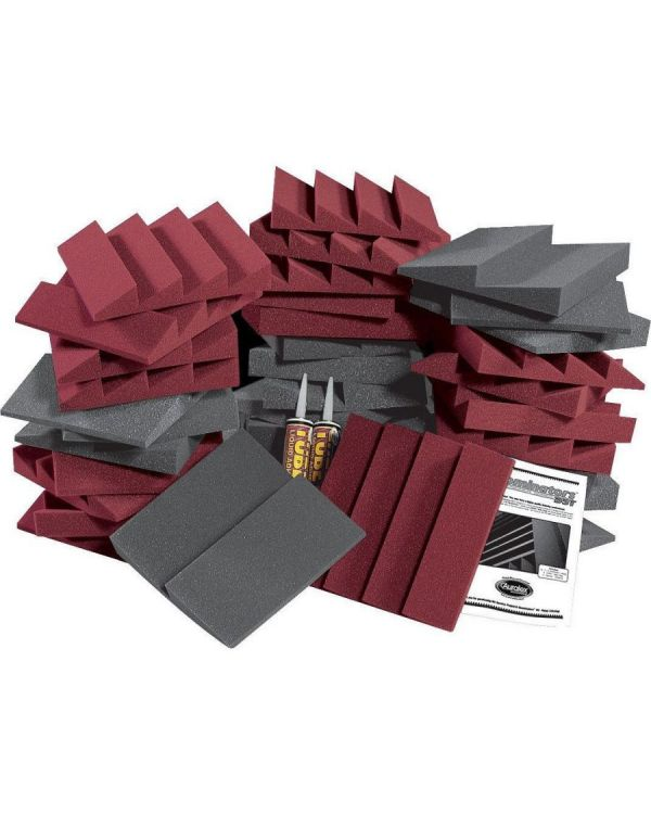 Auralex D36-DST Roominator Kit in Charcoal / Burgundy (36 Piece)