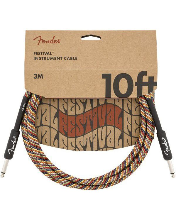 Fender 10' Festival Instrument Cable Rainbow