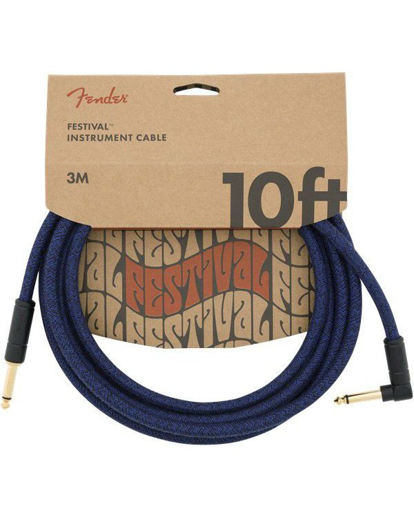 Fender 10' Angled Festival Cable Blue Dream
