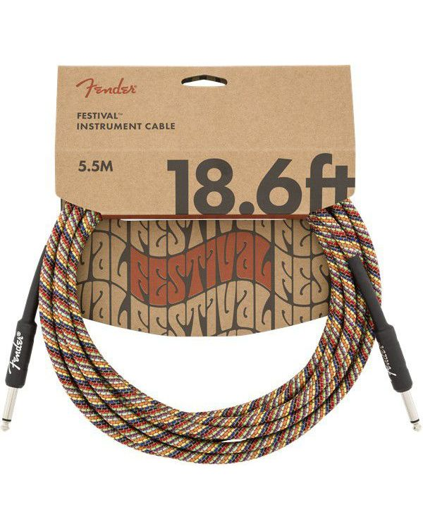 Fender 18.6' Festival Instrument Cable Rainbow