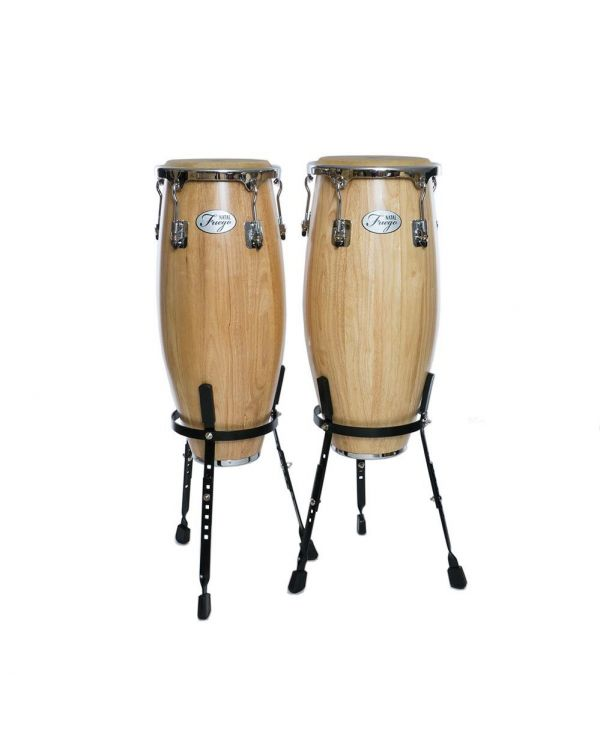 Natal Fuego Congas Natural 10 and 11inch with Basked Stands