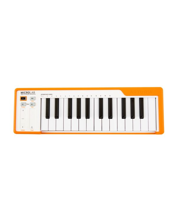Arturia MicroLab Orange USB MIDI Keyboard Controller