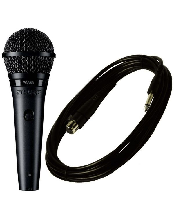 Shure PGA58 Vocal Microphone with XLR to Jack Cable