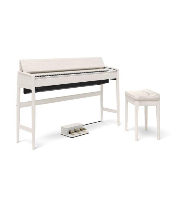 Roland Kiyola KF-10 Digital Piano with Stool Sheer White