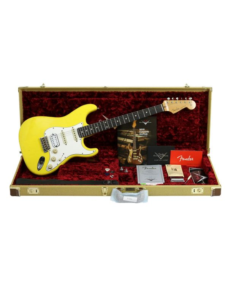 Fender Custom Shop Postmodern Strat HSS Journeyman Relic Graffiti Yellow
