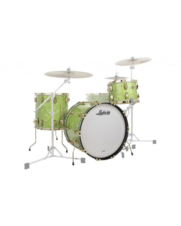 Ludwig 110th Anniversary Classic Maple Drum Kit Vintage Emerald Pearl