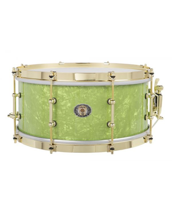 Ludwig 110th Anniversary Classic Maple Snare Drum Vintage Emerald Pearl