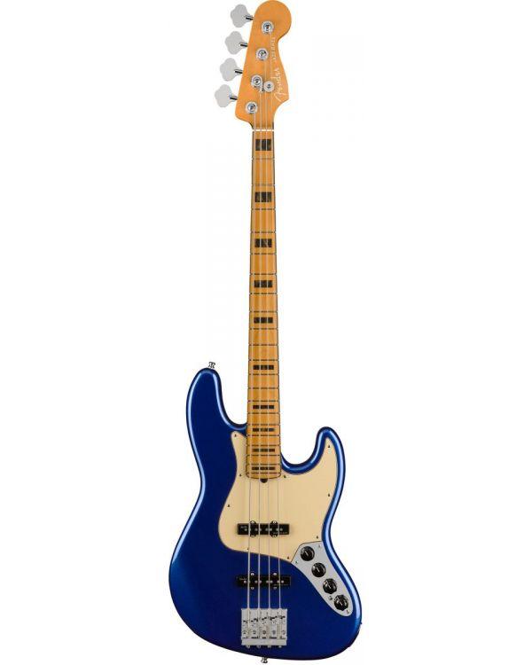 Fender American Ultra Jazz Bass Guitar, MN, Cobra Blue
