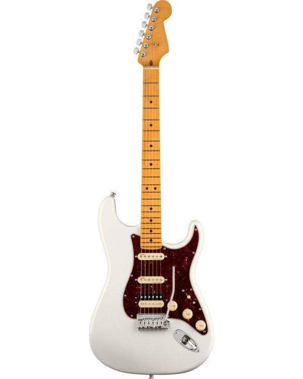 Fender American Ultra Stratocaster HSS, MN, Arctic Pearl