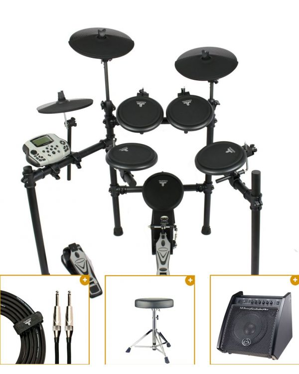 TourTech TT-16S Electronic Drum Kit with Monitor