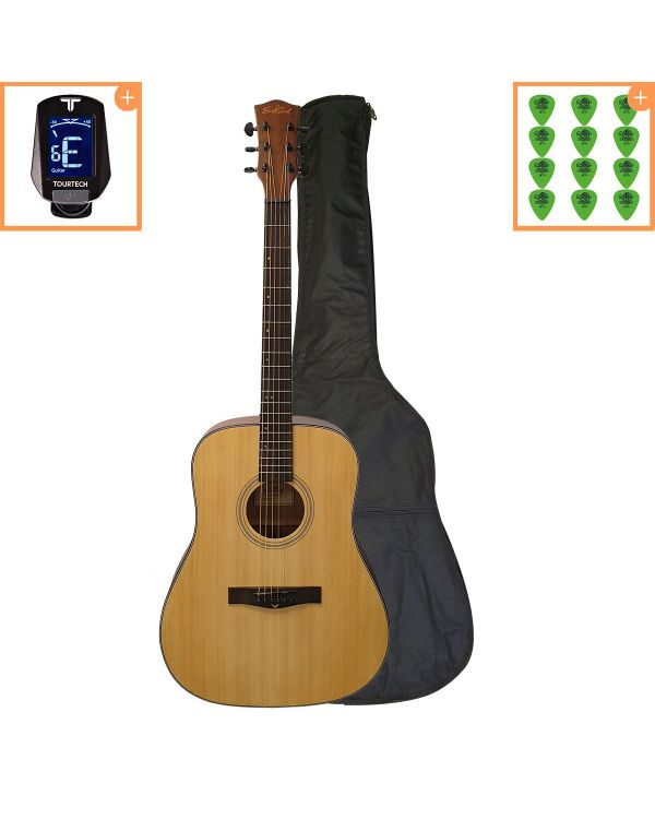 Eastcoast D1 Dreadnought Acoustic Guitar Starter Pack