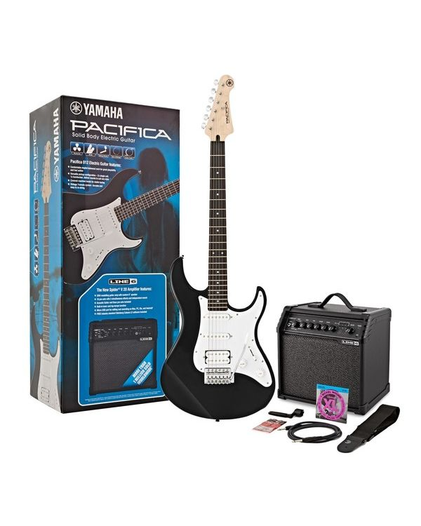 Yamaha Pacifica 012 Electric Guitar Starter Pack, Black