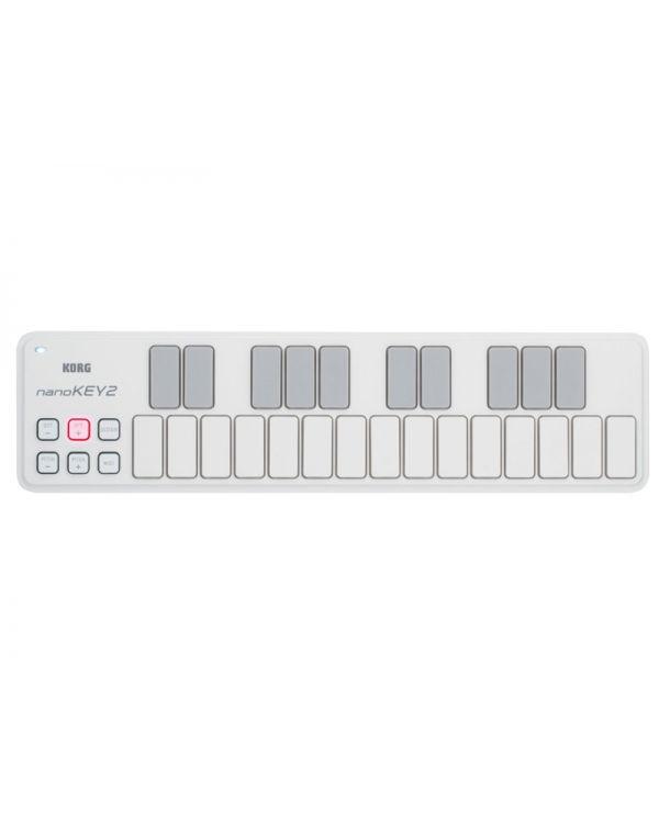 Korg NanoKey 2 Mini USB Keyboard in White