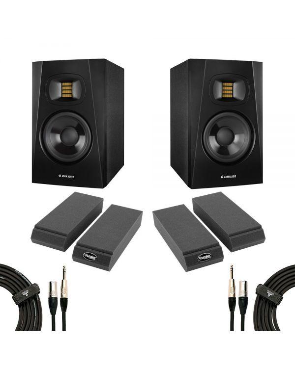 Adam Audio T5V Studio Monitor Bundle inc. Cables