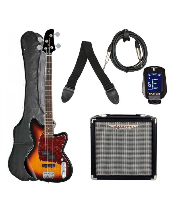 Ibanez TMB100 Bass Guitar Starter Package, Tri-Fade Burst