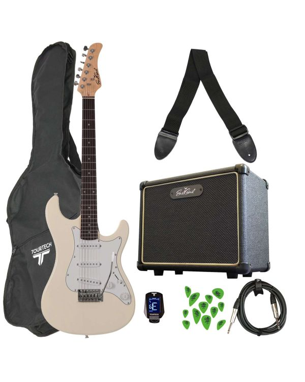 Eastcoast GS100 Electric Guitar Starter Pack Arctic White