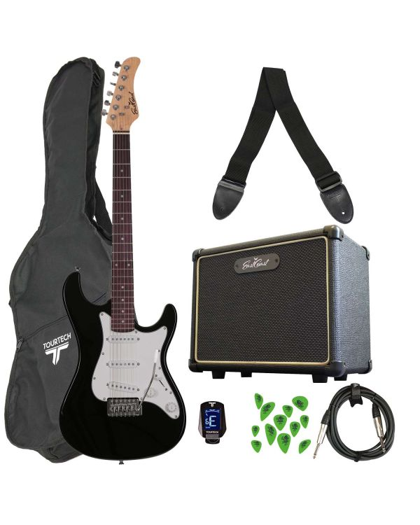 Eastcoast GS100 Electric Guitar Starter Pack Black