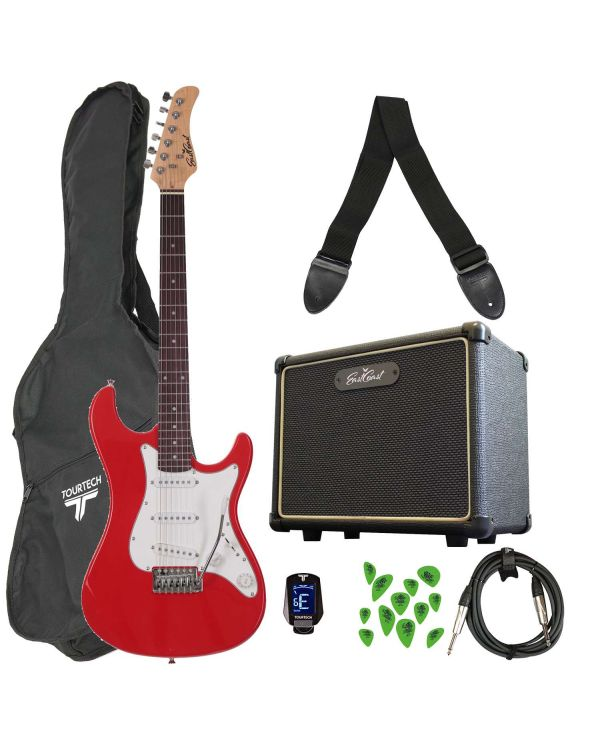 Eastcoast GS100 Electric Guitar Starter Pack Race Red