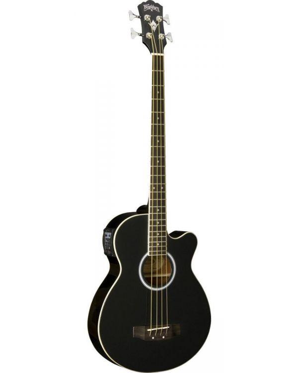 Washburn AB5-B Black Acoustic Bass Guitar