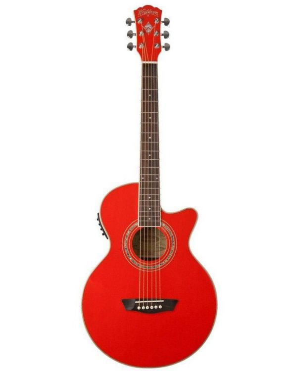 Washburn EA10R Electro Acoustic Guitar, Red