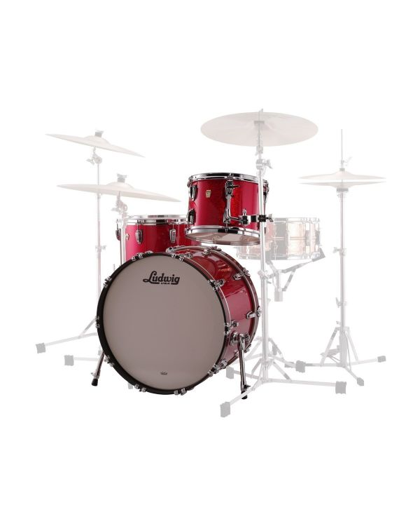 Ludwig Classic Maple FAB 22 Shell Pack, Red Sparkle