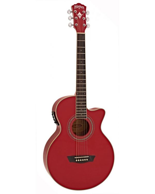 Washburn EA12R Electro Acoustic Guitar, Red
