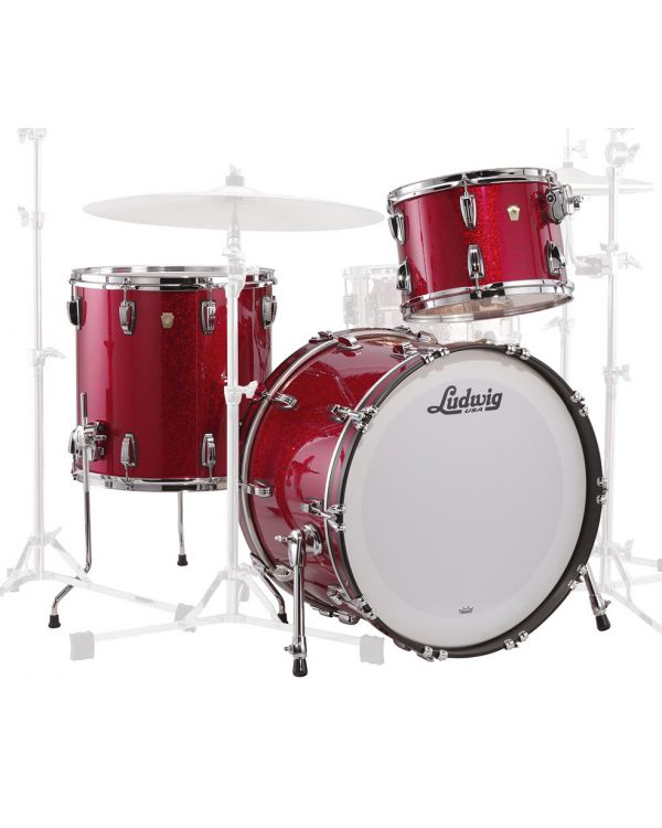 Ludwig Classic Maple Downbeat 20 Shell Pack, Red Sparkle