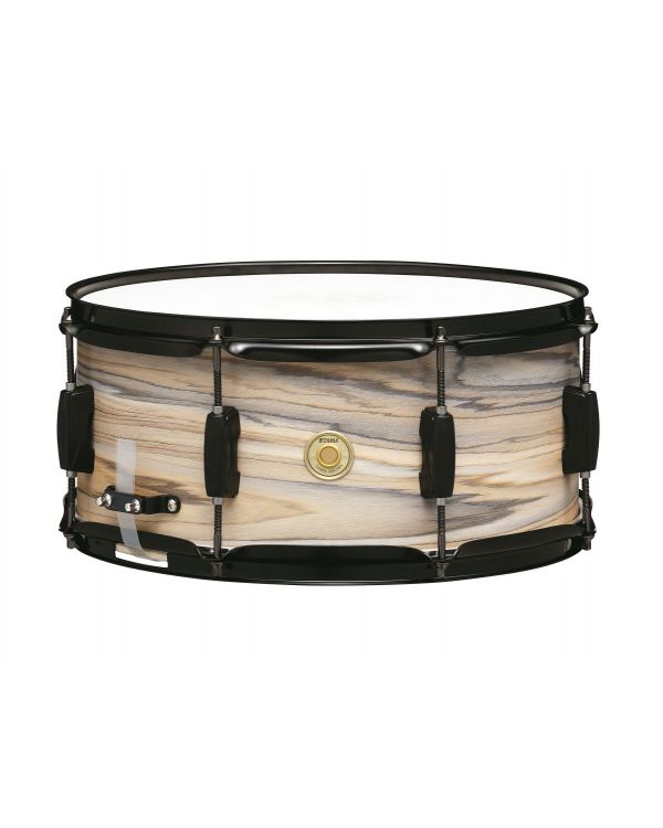 Tama Woodworks 14 x 6.5 Snare, Natural Zebra Wrap