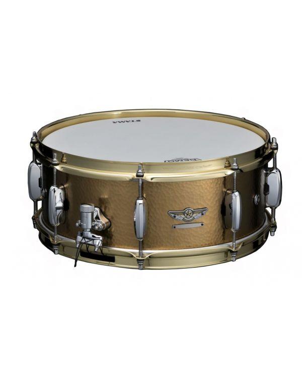 Tama Star 14 x 5.5 Snare Drum, Hand-Hammered Brass