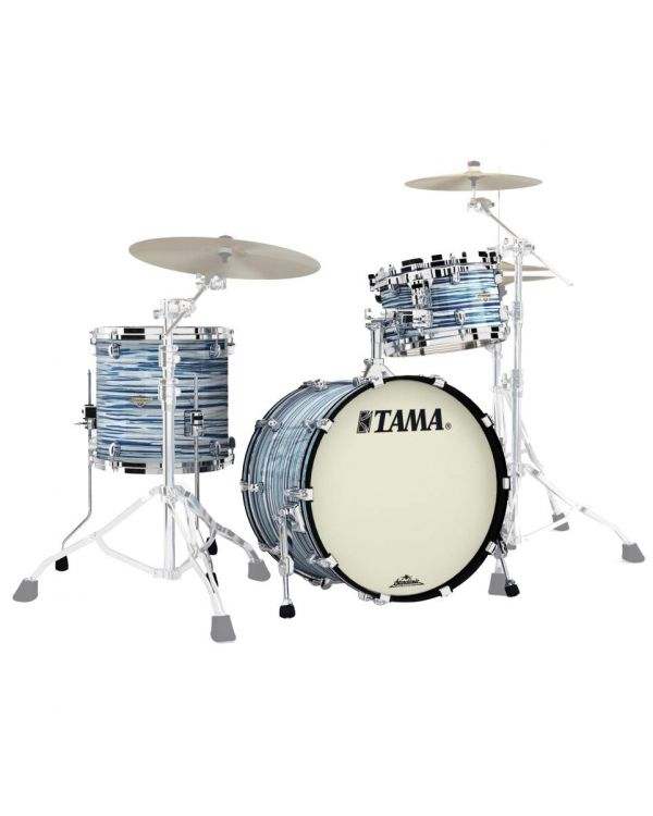 Tama Starclassic Maple 3-Piece Shell Pack 20in Blue and White Oyster