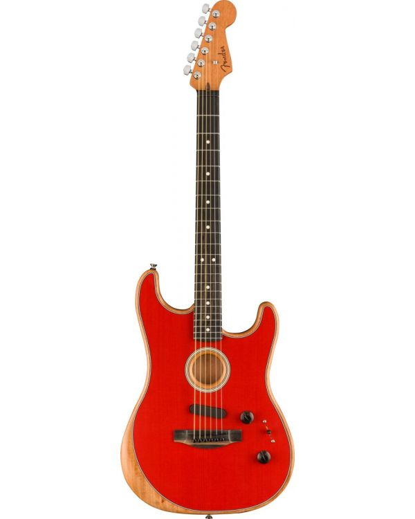Fender American Acoustasonic Stratocaster, Dakota Red