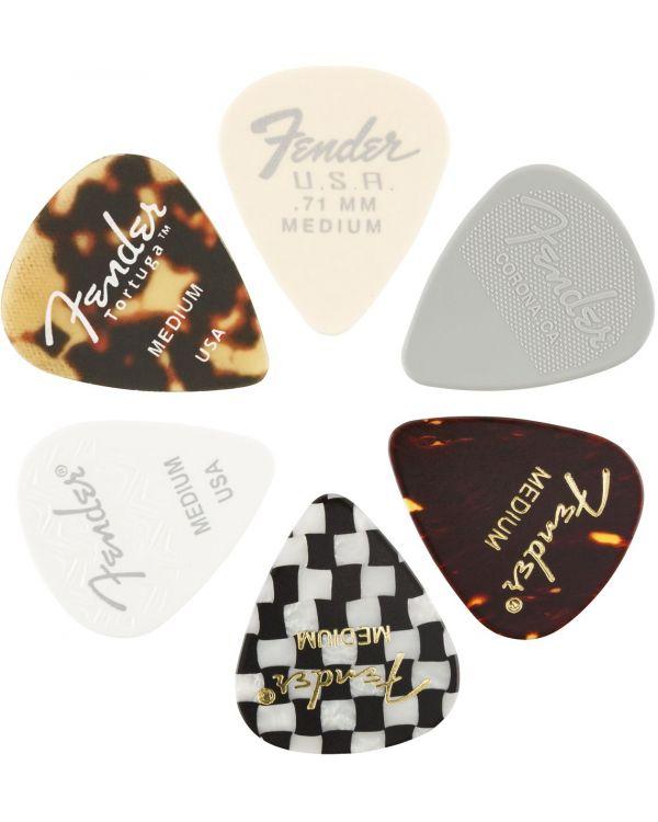 Fender 351 Shape, Material Medley, Medium, 6 Pack