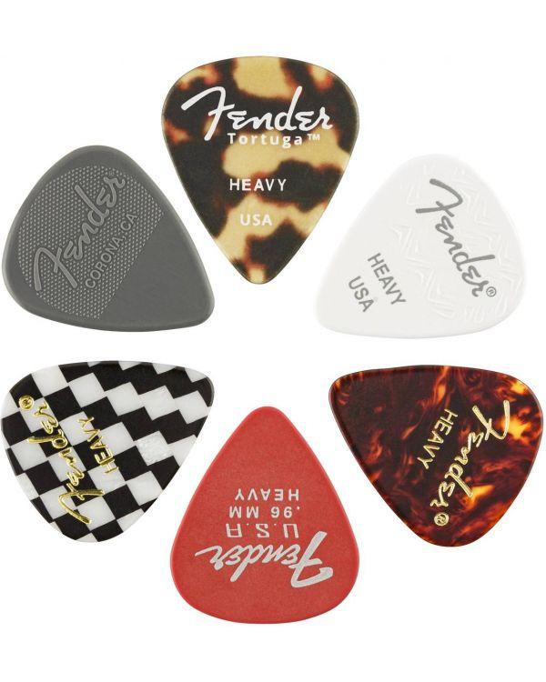 Fender 351 Shape, Material Medley, Heavy, 6 Pack