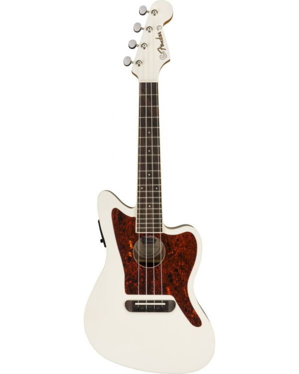 Fender Fullerton Jazzmaster Ukulele Olympic White
