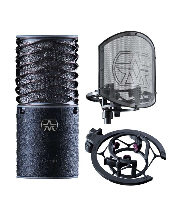 Aston Origin Condenser Microphone Bundle, Black